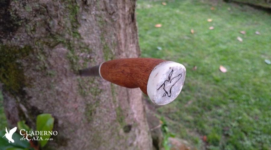 Cuchillo de caza artesanal | Regalos originales caza | Cuaderno de Caza