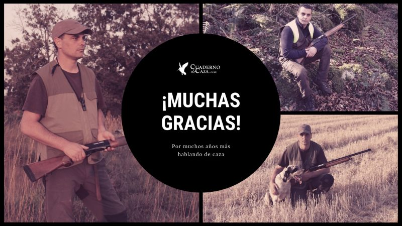 Primer aniversario de Cuaderno de Caza | Muchas gracias | Blog de Caza