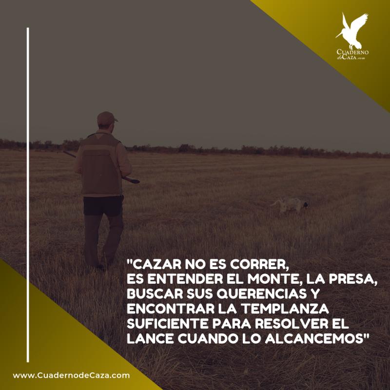 Cazar no es correr, es entender el monte | Frases de caza con imágenes | Cuaderno de Caza