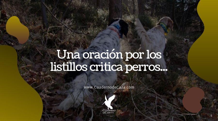 Listillos critica perros   Entendidillos de la caza   Cuaderno de Caza