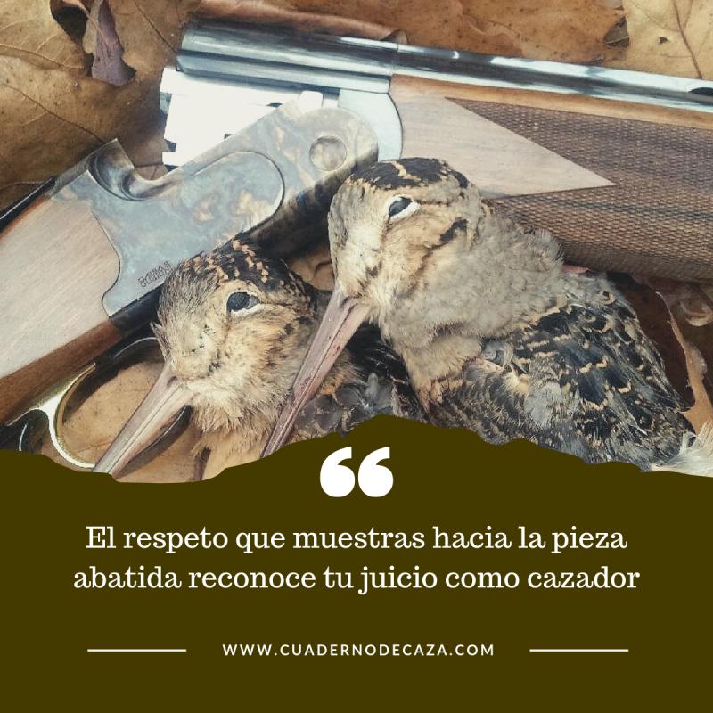 El respeto que muestras hacia la pieza abatida | Frases de caza | Cuaderno de Caza