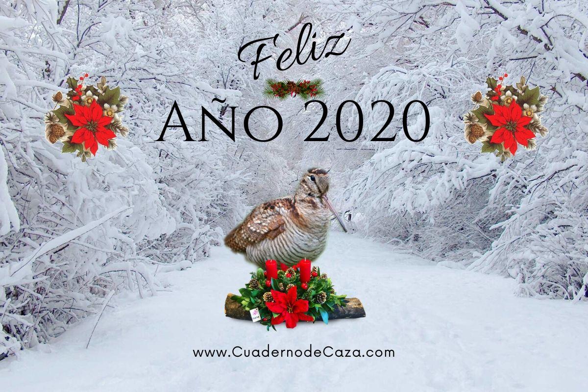 Feliz Año 2020 | Felicitación navideña de caza | Cuaderno de Caza