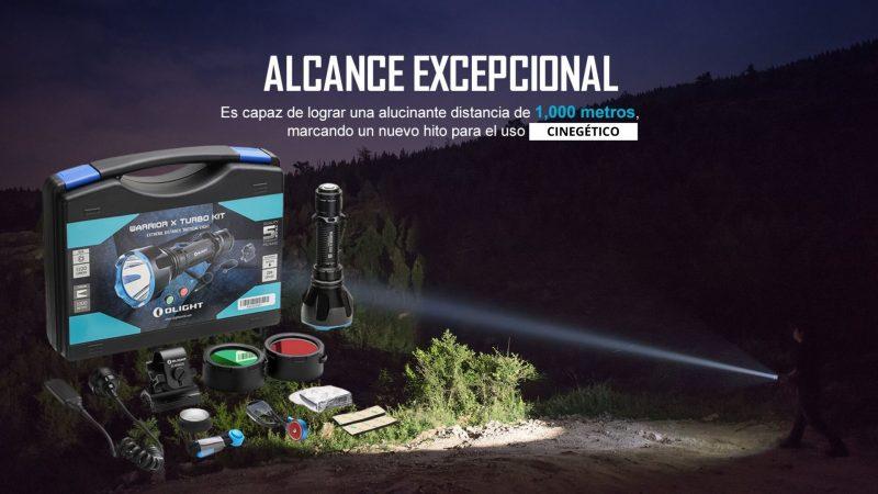 Linterna de caza para esperas de jabalí | Olight Warrior X Turbo Kit | Cuaderno de Caza